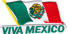 """VIVA MEXICO""  Iron On Embroidered Patch Flag Mexican"