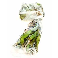 Ladies Multi Function 100% Silk Ivory Chiffon Scarf M
