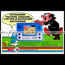 ORLITRONIC SCHTROUMPF PUFFI SMURF Peyo LCD Game Jeu 1983 Pub Publicité Ad #B610