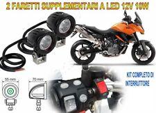 FARETTI KIT COMPLETO FARI SUPPLEMENTARI LED 12V 10W 6000K PER KTM 990 SMT ABS