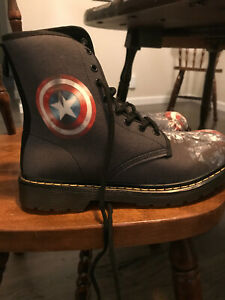 BRAND NEW Dark Blue Captain America/Chris Evans boots. Size 8 Womens, 6 Mens
