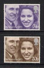 GB 1973 Royal Wedding SG 941/942 Set of 2 Mint MNH