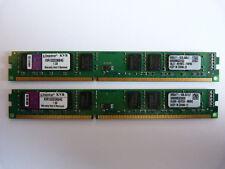2x 4GB Kingston KVR1333D3N9/4G 8GB DDR3 1333MHz PC3-10600 PC RAM Slim Kit