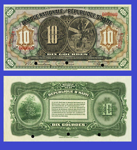 Haiti 10 gourde 1919 UNC - Reproduction