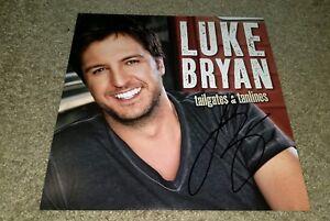 LUKE BRYAN Signed TAILGATES & TANLINES 12X12 PHOTO BECKETT CERTIFIED G30731