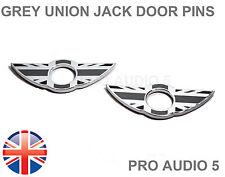 2x Mini Porte Pin Badges Gris Union Jack Gb Badge Chrome S-Qualité Premium UK