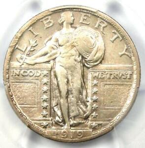 1919-D Standing Liberty Quarter 25C - PCGS XF Details - Rare Certified Coin!