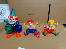 vintage Hand Painted paper mache Children In Clown Outfits 7 Of Them Very Detail