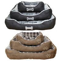 Super Soft Luxury Comfy Dog/Puppy/Cat/Pet Bed Cushion Fur/Fleece S/M/L Washable