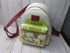 Loungefly Disney Winnie The Pooh Mini Backpack Watercolor Tree Characters Bag