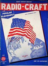 WAR TIME RADIO - CRAFT MAGAZINE, JULY, 1943 World War  II