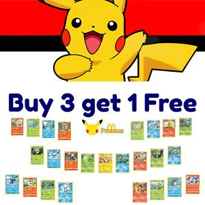 Pokemon 25th Anniversary McDonalds - Promo Singles - Holo & Non-Holo Cards