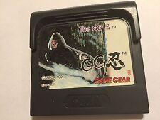 SEGA GAME GEAR GAMEGEAR GAME CARTRIDGE THE GG SHINOBI TESTED & GWO