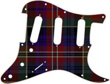 Stratocaster Strat Pickguard  Fender SSS 11 Hole Guitar Pick Guard Tartan Mac