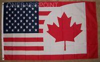 3'x5' Canada USA Flag Combination Friendship United States Huge Maple Leaf  3X5
