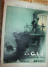 La Glu French Opera Poster 1910 Robert DuPont