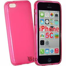 Cover caso para el iPhone 5 C Silicone Gel TPU Fucsia Retro Mate
