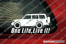 "2x ""one life live it"" mitsubishi pajero (1991-1999) autocollants 4x4 offroad decals"