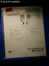 Sony Service Manual SRS PC51 Active Speaker System (#4940)