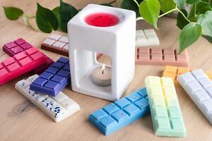 SETS of Wax Melts Natural Highly Scented Soy Snap Bars Designer 50g 10 BLOCKS