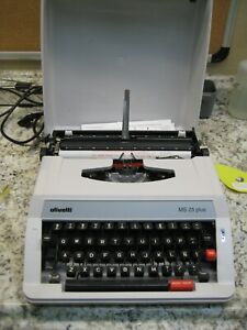 Olivetti MS25 Plus Portable Manual Typewriter with Case New