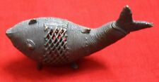 Antique Metal Fish Paper Weight Lucky Thai Fish Figure Gift For Lover BM661