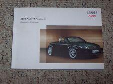 2006 Audi TT Roadster Quattro Factory Original Owner's Owners User Manual Book