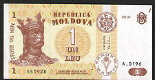 MOLDOVA 1 LEI 2010 BANKNOTE CURRENCY UNC condition  note