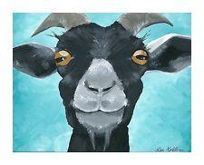 "Goat art, goat prints, 8x10"" goat art print ""Wilie"" signed by artist"