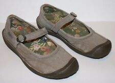 Pre-worn Womens KEEN Gray Summer Golden Mary Jane Shoes sz US 7, UK 4.5, EU 37.5