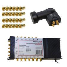 5/12 Multischalter SAT Switch 12 Teilnehmer PremiumX + Quattro LNB UHD LMB 4K