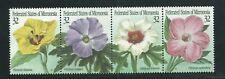 Micronesia Scott # 228 MNH Flowers Strip of Four