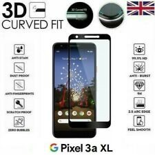 For Google Pixel 3a XL Full Coverage 3D Tempered Glass 9H Screen Protector Cover