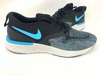 NEW! Nike Men's Odyssey React 2 Flyknit Running Shoes Black/Blue #AH1015 148D tz