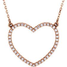 Corazón de diamante 40.6cm Collar en 14k oro rosa ( 1/3ct. TW
