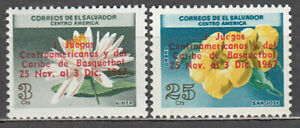 Salvador - Mail 1967 Yvert 725 + A.222 MH Flowers