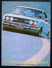 Prospekt brochure 1970 Toyota Corona Mark II (Estados Unidos)