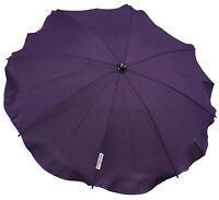 Universal Baby UMBRELLA waterproof Fit Quinny Buzz pushchair/pram Dark purple