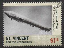 """WWI Luftschiff Zeppelin LZ.8 """"Deutschland II"""" E-Class German Airship Stamp"""