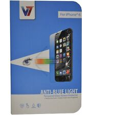 New Genuine V7 Screen Protector Anti-Blue Light Tempered Glass for Iphone 6