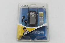 Coby CX83 Portable Pocket AM/FM Radio W/ Lightweight Stereo Earphones