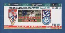 Orig.Ticket   EM Qualifikation  07.09.2010   KROATIEN - GRIECHENLAND  !!  SELTEN