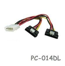 "6"" 4-Pin Molex Male to Dual SATA 15-Pin Power w/Latch"
