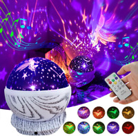 Baby Night Light Projector Rechargeable Kids Unicorn Star Rotating Led Projector