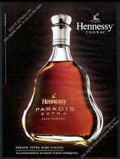 2004 Hennessy Paradis Extra cognac bottle photo BIG vintage print ad