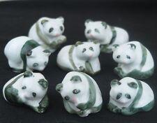 "8 Assorted Porcelain Baby Giant Pandas Figurine Miniatures - 2"" - New"