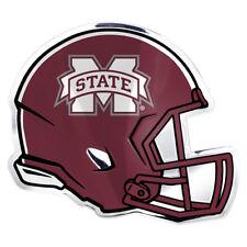 Ncaa Mississippi State University Bulldogs 3D Color Aluminum Helmet Auto Emblem