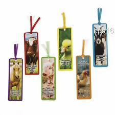 12 x Farm Animal Bookmarks..Childrens Party Favours..Party Loot Bag Supplies