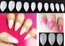 50 Pcs  Sharp Almond Shape False Nails + Nail Glue Fake Nail Art Artificial Nail