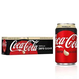 Vanilla Coke Zero Sugar Soda 12 pack Coca Cola FREE SHIPPING!